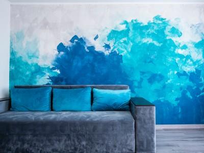 Окраска стен в сухих помещениях